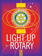 Rotary President Kent Wolever's yearly theme.