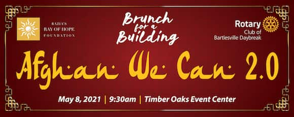 The Afghan We Can 2.0 brunch for a building fundraising event hosted by Bartlesville Daybreak Rotary.